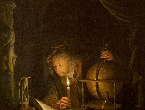 Astronomer By Candlelight. Astronomer by candlelight